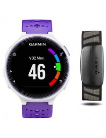 Garmin Forerunner® 230 (GPS, Purple & White Bundle)