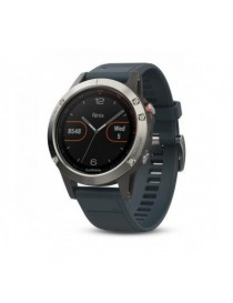 Garmin fenix 5 - Silver with granite blue band,