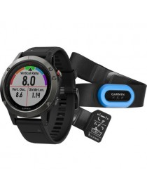 Garmin fenix 5 - Performer Bundle - Slate grey with black band