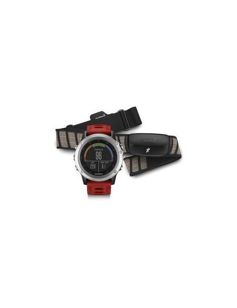 Портативный навигатор Garmin fenix® 3, Silver Performer Bundle