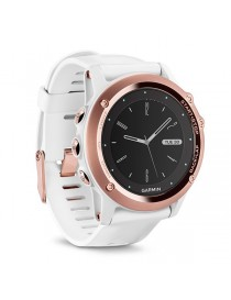 Портативный навигатор Garmin fenix® 3, Sapphire, Rose Gold tone with White Band