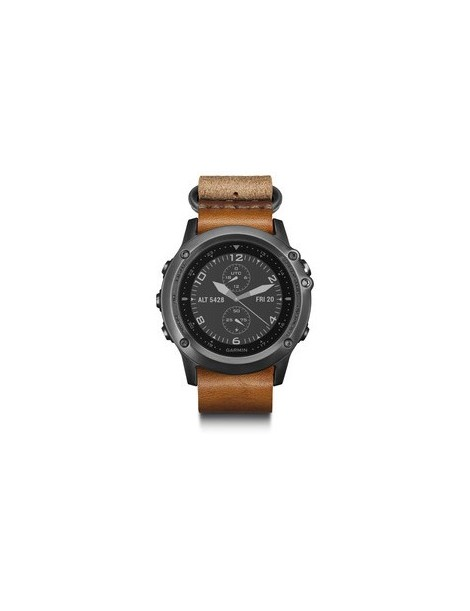 Garmin fenix 3 Sapphire - Gray with leather and nylon straps