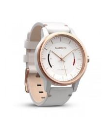 Garmin vivomove Classic, Розово-золотистые с белым кожаным ремешком