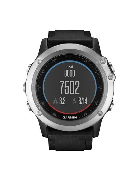 Garmin fenix 3 HR – Silver Edition with black silicone band