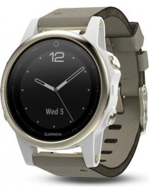 Garmin fenix 5S Sapphire - Champagne with grey suede band