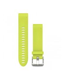 Ремешок для часов Garmin fenix 5s 20mm QuickFit Amp Yellow Silicone Band
