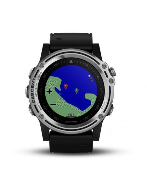 Часы для дайвинга Garmin Descent™ Mk1 Sapphire серебряные с черным ремешком
