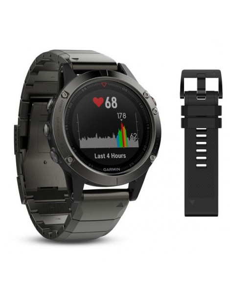 Garmin fenix 5 Sapphire - Slate grey with metal band