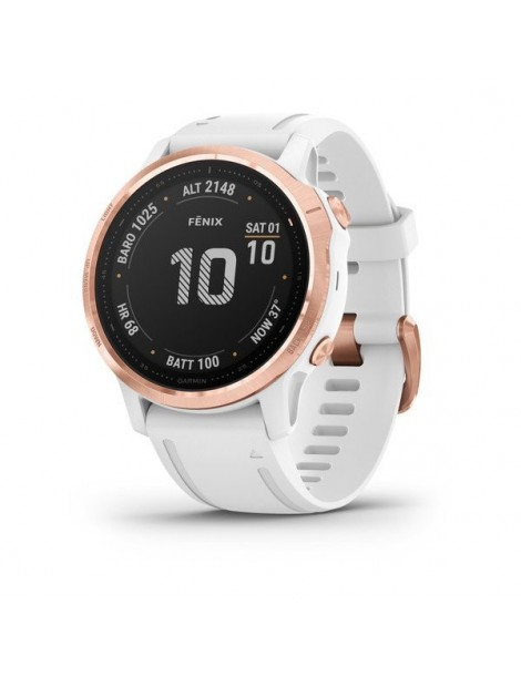 Garmin fenix 6S PRO - Rose Gold-tone with White Band