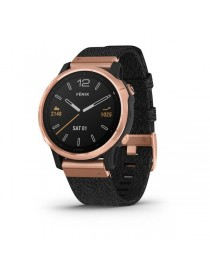 Garmin fenix 6S SAPPHIRE - Rose Gold-tone with Heathered Black Nylon Band