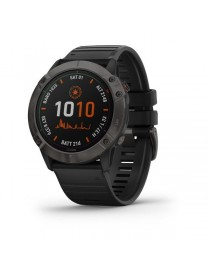 Garmin fenix 6X PRO SOLAR - Titanium Carbon Gray DLC with Black Band