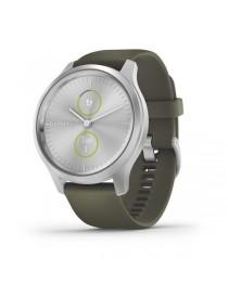 Garmin vivomove Style, Silver-Moss Green, Silicone