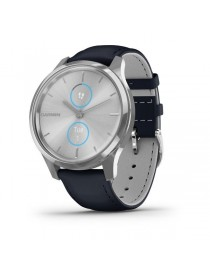 Garmin vivomove Luxe, Silver-Blue, Leather