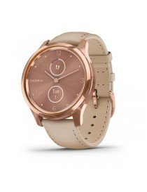 Garmin vivomove Luxe, Rose Gold-Beige, Leather
