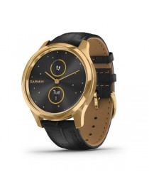 Garmin vivomove Luxe, Pure Gold-Black, Leather