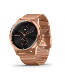 Garmin vivomove Luxe, Rose Gold-Black, Milanese