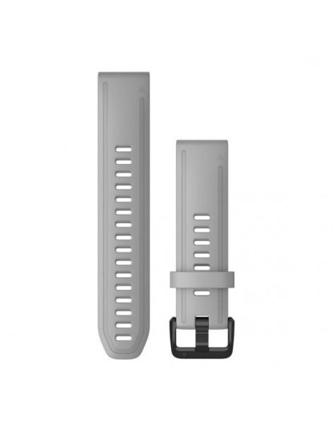 Ремешок для часов Garmin fenix 5s/5s plus/6s QuickFit® 20mm Powder Gray Silicone