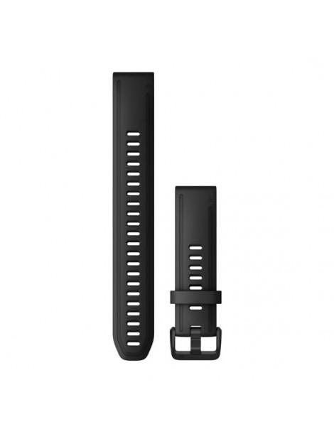 Ремешок для часов Garmin fenix 5s/5s plus/6s QuickFit® 20mm Black Silicone (Large)