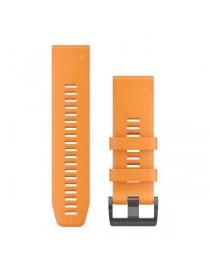 Ремешок для часов Garmin fenix 5X/5X plus/6X QuickFit® 26mm Solar Flare Orange Silicone