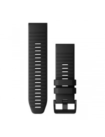 Ремешок для часов Garmin fenix 5X/5X plus/6X QuickFit® 26mm Black Silicone