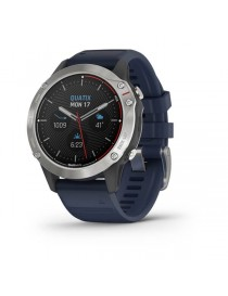 Garmin quatix® 6 - Gray with Captain Blue Band
