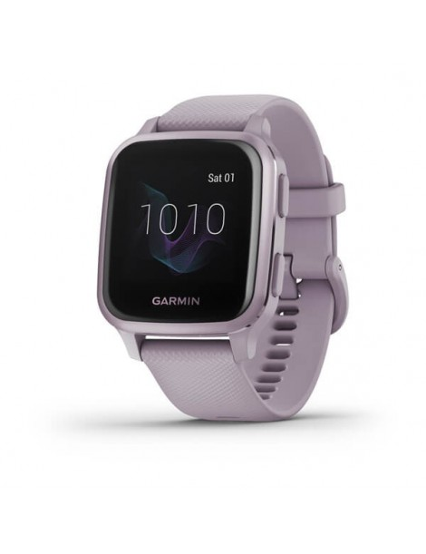 Garmin Venu® Sq - Metallic Orchid Aluminum Bezel with Orchid Case and Silicone Band
