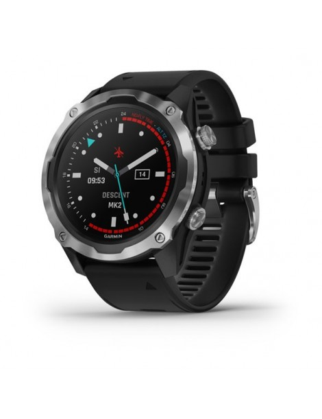 Garmin Descent™ Mk2 -Stainless Steel with Black Band