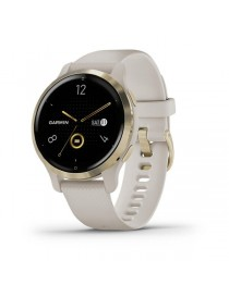 Venu 2S Light Gold Bezel with Light Sand Case and Silicone Band