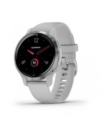 Venu 2S Silver Bezel with Mist Gray Case and Silicone Band