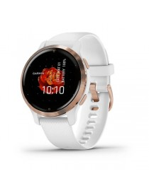 Venu 2S Rose Gold Bezel with White Case and Silicone Band