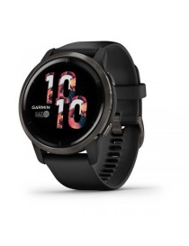 Venu 2 Slate Bezel with Black Case and Silicone Band