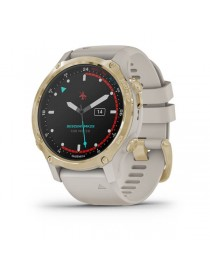 Descent Mk2S Light Gold with Light Sand Silicone Band