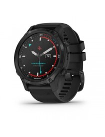 Descent Mk2S Carbon Gray DLC with Black Silicone Band